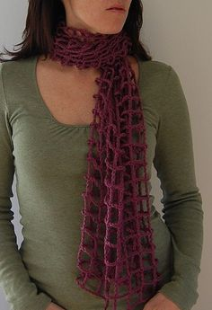 Crocheted Mesh Scarf: free pattern