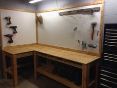 Built Dad Tough House Garage Diy Garage Workbench Plans