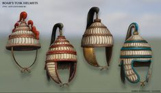 One of the many types of Bronze age helmet types. Famously used by the Mycenaean elite noblemen, but also used by the Minoans before.