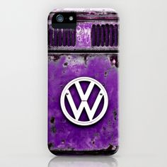 VW Retro Purple iPhone & iPod Case - $35.00.  Available for Galaxy S4, iPhone 5, 5S, 5C, 4S, 4, 3GS, 3G, & the iPod Touch #iphone #phonecase #VW #Volkswagen #Camper #Bus #Retro #Purple
