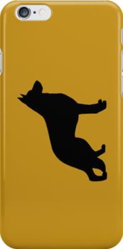German Shepherd Dog Silhouette iPhone and iPad Cases