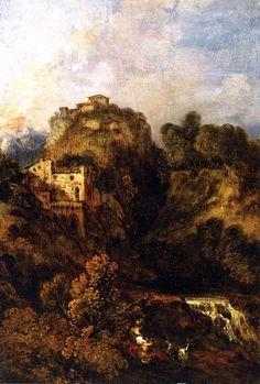 Landscape with Goat - Jean-Antoine Watteau - circa 1717