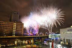 London New Year Fireworks from Whitehouse Apartments roof.