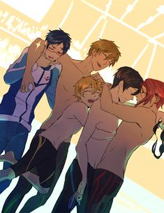 Iwatobi Swin Club - Rin Matsuoka x Haru Nanase 5 Anime, Free Anime, Anime Love, Anime Guys, Otaku Anime, Rin Matsuoka, Makoto Tachibana, Rei Ryugazaki, Swimming Anime