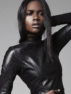 Zuri Tibby - Love the leather with a hint of lace!