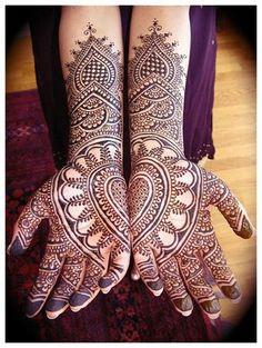 Heart in Hand Henna Tat!