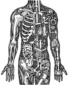 Beautiful (science) typography art by Sarah King Men and Machines, Dazed and Confused Anatomy Art, Human Anatomy, Sarah King, Ghost In The Machine, Mechanical Art, Illustrator, Kings Man, Medical Art, Medical Illustration