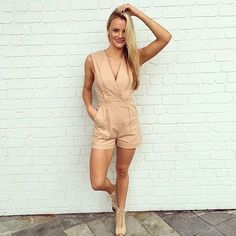 How cute is our KOOKAÏette Tammy wearing the Utility Playsuit, available in Boutiques & Online xx #kookai
