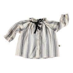 Black Striped Shirt with Ribbon | Piupiuchick at @Kide