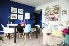 Navy Blue by Behr, Natalie & Fabrizio's Color Lovers Home Small Cool Contest | Apartment Therapy
