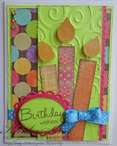 birthday scrapbook card idea. Wonderful look for all those scrap papers!
