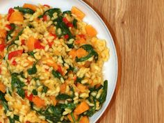 Butternut Squash & Spinach Risotto by Rachel Cotterill, via Flickr