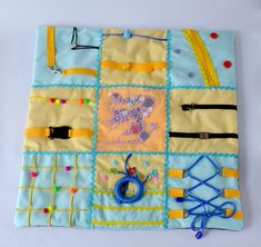 Alzheimers blanket, Fidget Quilt, Fidget Blanket, Alzheimers, Occupational therapy, Dementia Blanket, Stroke rehab, Toddler fidget blanket Blanket is made taking into account those factors that are necessary for people suffering from Alzheimers disease. When a grandfather or grandmother develops Sensory Blanket, Weighted Blanket, Alzheimers Activities, Dementia Crafts, Crochet Fruit, Fidget Quilt, Fidget Blankets, Busy Board, Occupational Therapy