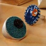 Dimensional Magic microbead ring craft.