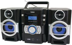 naxa - portable cd/mp3 player with pll fm radio, detachable speakers & remote