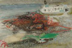 John Piper: From St. Brides Towards St. Davids Artist Painting, Painting & Drawing, John Piper Artist, St Brides, Royal College Of Art, Plant Art, Modern Artists, Abstract Art, Illustration