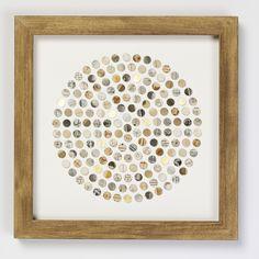 Circle of sepia and gold dots  Dots & spots