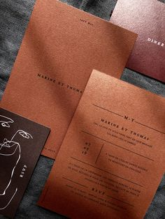 Minimalist wedding stationery The new trend is definitely minimalist and the terracotta color for Beach Wedding Invitations, Wedding Invitation Design, Wedding Stationery, Event Invitations, Graphic Design Print, Graphic Design Inspiration, Stationary Design, Book Design, Design Design