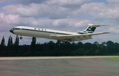 Sometime between 1962 and 1964, a BOAC Standard VC10 (Series 1100) makes another smooth landing.