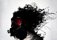 Ghost Warrior #apocalypse #gasmask #ghost #surreal #warrior