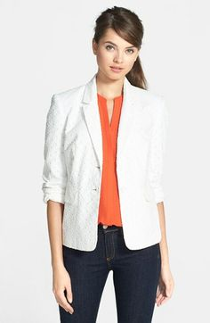 Chaus Two-Button Eyelet Blazer | Nordstrom