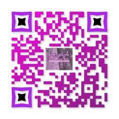 Código QR Blog Content Curator con logo