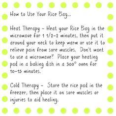 Corn heating pad instructions