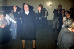 Sr Agnes singing at a  Columban Singers evening