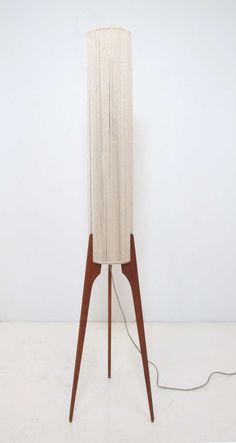 Danish Teak Tripod Floor Lamp ca. 1960s.