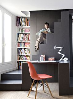 stairs + bookcase