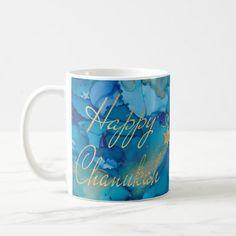 Shop Hanukkah Mug Colorful Golds/Blues Design created by HanukkahHappy. Feliz Hanukkah, How To Celebrate Hanukkah, Simple Gifts, Blue Design, Bunt, Design Elements, Hanukkah Celebration, Funny Jokes, Mockup