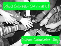 School Counselor Survival Kit! Must have items for new school counselors and school counselor interns!