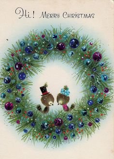 Retro Christmas Birds and Crown of Retro Vintage Christmas Craft … - Christmas Cards Christmas Bird, Retro Christmas, Christmas Greetings, Christmas Holidays, Christmas Crafts, Christmas Decorations, Vintage Christmas Images, Vintage Holiday, Christmas Pictures