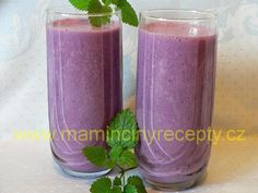 Borůvkové smoothie s tvarohem Voss Bottle, Water Bottle, Stuff To Do, Things To Do, Smoothies, Detox, Mason Jars, Food And Drink, Healthy Recipes