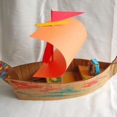 A free printable template for creating your own ships from The Chronicles of Narnia out of cardboard.