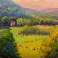 "Paint Dance: ""Early Morning View""- Valle Crucis B&B, plein air, 12x12, oil on board"