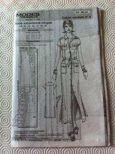Patron Couture Mode Travaux N°385 591 Mars 2015 Robe Saharienne Longue T 36 48   eBay