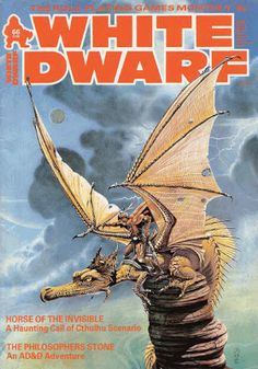White Dwarf 66 Games Workshop Dungeons and Dragons Call of Cthulhu Classic Sci Fi Books, Classic Rpg, Classic White, Cover Pics, Cover Art, Pen And Paper Games, Rpg World, Advanced Dungeons And Dragons, Call Of Cthulhu