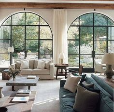 2012 Atelier AM Architectural Digest — The International Design Authority Home Living Room, Living Room Designs, Living Room Decor, Living Spaces, Living Room With Windows, Living Area, Architectural Digest, Family Room Design, Interiores Design