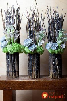 From Fresh Florals in Toronto. Nice change from a dozen red, no? From Fresh Florals in Toronto. Nice change from a dozen red, no? Twig Crafts, Flower Crafts, Flower Art, Diy And Crafts, Nature Crafts, Dried Flowers, White Flowers, Paper Flowers, Floral Flowers