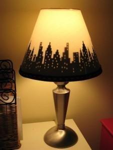 11. Create a custom lamp shade with your Cricut