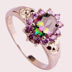Mystic Topaz  Amethyst gems/ 925 Silver Sterling by MyyyPreciousss