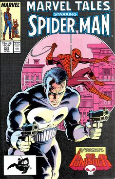 Marvel Tales 209 1987 cover by Mick Zeck Spider-Man Punisher