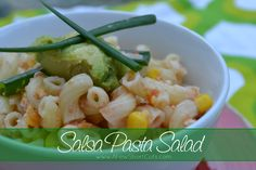 salsa pasta salad #YUM Used my @Wholly Guacamole Salsa! JUST PERFECT!