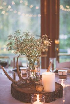 Fall Deer Antler Centerpiece