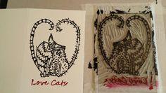 Linoprint In Progress By Lucy Clayton