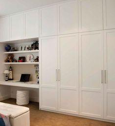46 Trendy Bedroom Wardrobe Ideas Built Ins Storage Diy Built In Wardrobes, Diy Fitted Wardrobes, Bedroom Built In Wardrobe, Ikea Wardrobe, Closet Bedroom, Bedroom Storage, Home Bedroom, Wardrobe Ideas, Wardrobes For Bedrooms