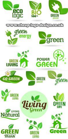 eco green logo design ideas www.cheap-logo-design.co.uk #eco #green #greenlogos