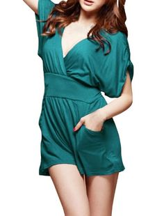 • Looking elegant and sultry has never been easier. With this #cross wrap front romper, finished with a feminine v neckline and a self-tie waist, this relaxed pi...