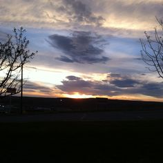 Evanston, Wyoming April Sunset